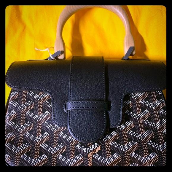 Authentic Goyard mini saigon brand new black